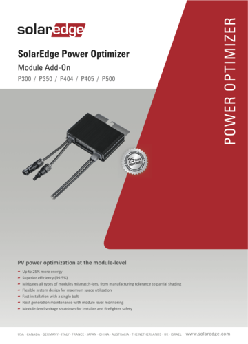 Optimizador Solar Edge