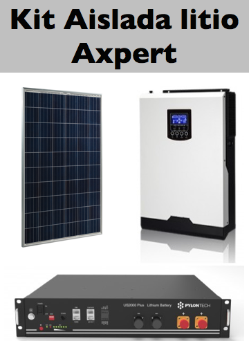 Kit Solar aislada Axpert litio