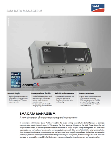 SMA data manager EnneoxOS