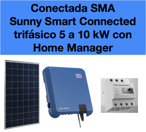 Kit Solar Sunny Tripower Smart Connected con Home Manager 5 a 10 kW