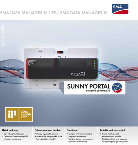 SMA data manager Lite EnneoxOS